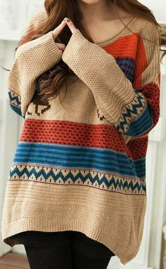 Probably not those colors, but there's something so comfortable about a giant sweater.
