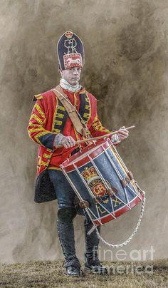 Colonial British Drummer Portrait Print By Randy Steele