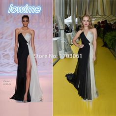 Find More Evening Dresses Information about Zuhair Murad Black and White Chiffon Evening Dresses Sleeveless Elegant Vestidos de Noche Spring Summer Unique Abendkleider Gown,High Quality gown picture,China dress wedding gown Suppliers, Cheap dress evening gowns from Lowime Boutique Store on Aliexpress.com
