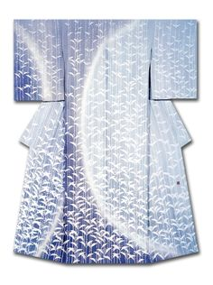 """Beginning of Fall"". A silk kimono named and created by Masaaki Ueno. Winner of the Kyoto Mayor's Prize at the 31st Annual Meeting of the Japanese textile artist Exhibition award. Japan"