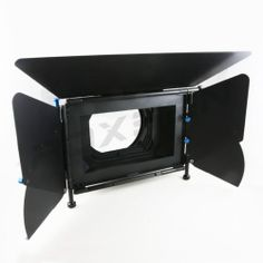 Film Video DSLR Matte Box for 15mm Rod Support System Follow Focus Rig w Clamp