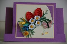 Neli Quilling Art: Preparation for Easter Holidays - 1 Neli Quilling, Quilling Cards, Easter Holidays, Projects To Try, Greeting Cards, Scrapbooking, Flowers, Eggs, Quilling