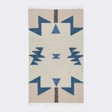Janessa Kelim Rug, Blue Triangles | LuLu & Georgia | $159 - 320