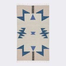 Janessa Kelim Rug, Blue Triangles | LuLu & Georgia | $159 - 320