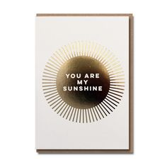 Sunshine Card  £2.99  A beautiful greeting card, left blank inside for you to personalise with your prose!