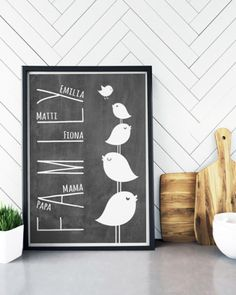 Familien Poster - Schwarz-Weiss Family-Prints online selber machen bei Printcandy Family Poster, Hemnes, Mamas And Papas, Design Blog, Direction, Ikea, Layout, Yellow, Prints