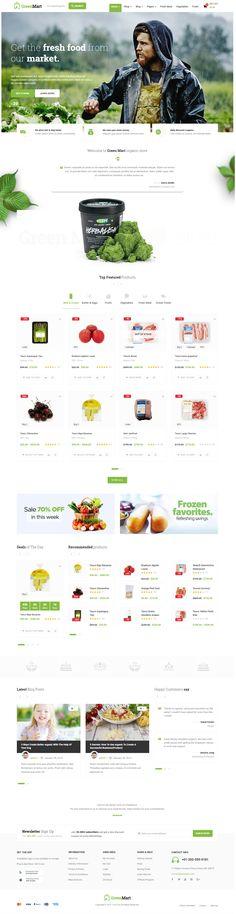 GreenMart – Organic & Food WooCommerce WordPress Theme. #food #food shop #food theme #fresh #fruit #fruit theme #mobile #organic #organic food #organic shop #organic theme #responsive