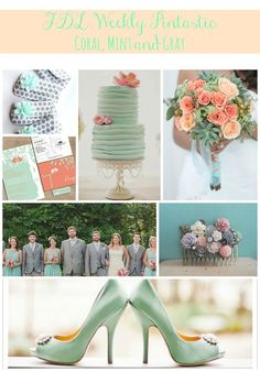 Coral, Mint, and Gray Wedding, wedding trends, wedding color ideas, Pensacola Wedding Planner, Fluer de Lis Event Consulting