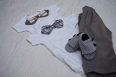 DIY Baby boy shoes, onesie & pants tutorial