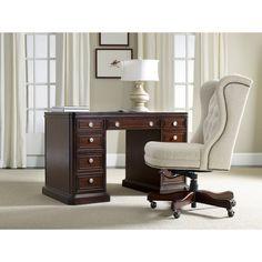 Hooker Furniture Knee-Hole Desk - Walnut - 5083-10302