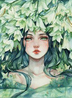 Cool Art Drawings, Art Drawings Sketches, Pretty Art, Cute Art, Watercolor Illustration, Watercolor Art, Arte Sketchbook, Anime Art Girl, Aesthetic Art