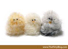 The Flirty Blog: A DIY craft project: Pom Pom Easter Chicks