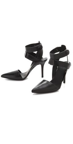 alexander wang ankle strap pumps
