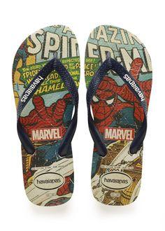 14626b198 Havaianas Top Marvel Spiderman Sandal Beige/Navy Blue