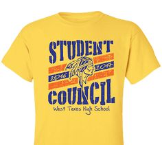 High School Impressions Custom Student Council T Shirts, - Create your own design for t-shirts, hoodies, sweatshirts. Choose your Text, Ink and Garment Colors School Shirt Designs, School Shirts, Student Council Shirts, Texas High School, Leader In Me, Senior Year, Web Design, Graphic Design, Tee Shirts