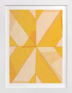 """""""Abstract Layers - Limited Edition Art Print by Kelly Nasuta in beautiful frame options and a variety of sizes. Wall Art Prints, Fine Art Prints, Mellow Yellow, Color Yellow, Custom Art, Paper Collages, Watercolor Art, Modern Art, Art Projects"""