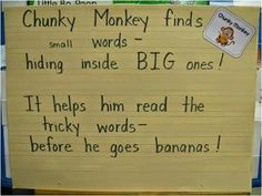Lesestrategien: kleine Wörter in großen finden
