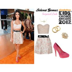 Selena Gomez Inspired Outfit- Nickelodean Kid's Choice Awards, created by glidy101 on Polyvore