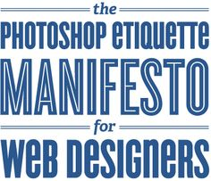Funny, yet great advice for designing especially web design.