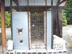Susan Roden, OR  wood-gas hybrid kiln under construction.