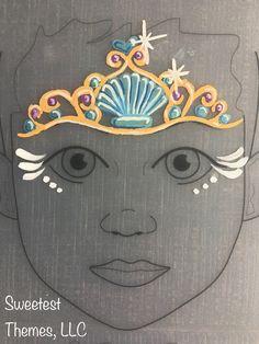 Mermaid ♀️ princess crown face painting