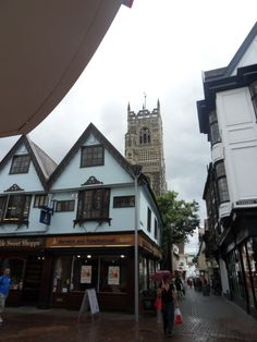 Love to go into town on Sunday just to hear the bells ring-the church in the background.