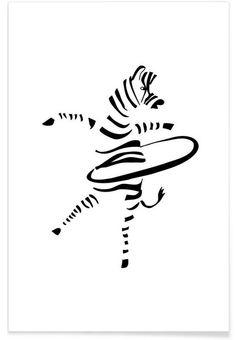 Hula-Hoop Zebra as Premium Poster by Christina Heitmann | JUNIQE