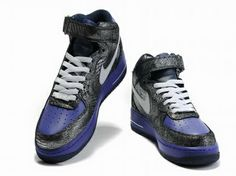 cheap for discount c5118 c7791 Nike Air Force 1 High Blue Lizard  Blue  Womens  Sneakers