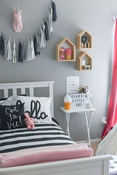 Scandinavian Monochrome Room Inspiration #kidsrooms