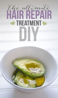 Ultimate DIY Hair Mask: 1 Egg {protein moisture) 1 Avocado {moisture full of nutrients} 3 TBS Olive oil {shine strength} 1 TBS Honey {natural humectant}