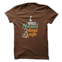 gifts for dog lovers-brown t-shirt short sleeve