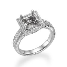 Start by picking out the perfect setting for your Engagement Ring! The details in our designs set the stage for a brilliant center stone of your choice. Engagement Ring Settings, Engagement Rings, Unique Settings, Dream Ring, Fine Jewelry, Stone, Diamond, Detail, Enagement Rings