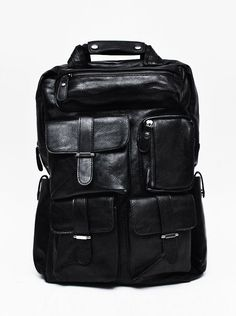 Utility Cargo Leather Backpack