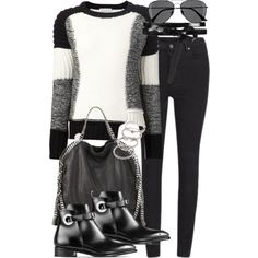 Untitled #17546 by florencia95 on Polyvore featuring polyvore, fashion, style, Each X Other, Cheap Monday, STELLA McCARTNEY, Forever 21, AllSaints and H&M