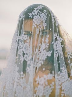 That veil // French Coast Shoot by Alexander James