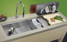 Food Preparation Sinks - Cascade sink design from Elkay