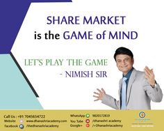 You're free to pursue your investment goals the way YOU want.   Dhanashri Academy Nimish Sir  Call Us On +91 7045654722 www.dhanashriacademy.com