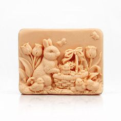 The Cute Rabbit Design DIY Silicone Mold Handmade Soap Molds
