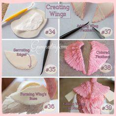 {Flamingo Wings Collage erstellen} - Indy's birthday Flamimgo - Torten Creative Cake Decorating, Cake Decorating Techniques, Cake Decorating Tutorials, Creative Cakes, Flamingo Party, Flamingo Cake, Fondant Toppers, Fondant Cakes, Fete Anne