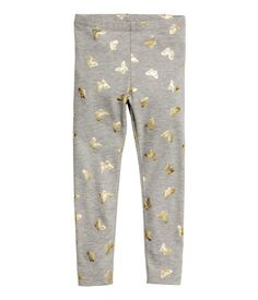Patterned leggings: Leggings in patterned cotton jersey with an elasticated waist. Baby Girl Pants, Girls Pants, Patterned Leggings, Printed Leggings, Baby Girl Fashion, Fashion Kids, Mode Des Leggings, Early 2000s Fashion, Girls Sleepwear