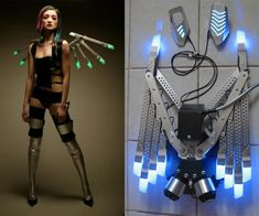 Gas-Powered LED Wings | DudeIWantThat.com