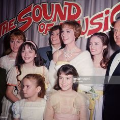 British actor and singer <a gi-track='captionPersonalityLinkClicked' href=/galleries/search?phrase=Julie+Andrews&family=editorial&specificpeople=93639 ng-click='$event.stopPropagation()'>Julie Andrews</a> poses with other cast members of director Robert Wise's film, 'The Sound of Music,' at the film's premiere, Hollywood, California,. L-R: <a gi-track='captionPersonalityLinkClicked' href=/galleries/search?phrase=Heather+Menzies&family=editorial&specificpeople=1660436…