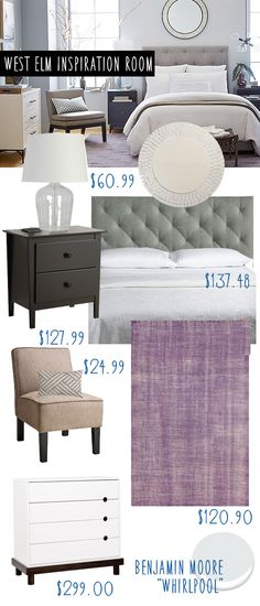 Good Afternoon! I decided to put together a quick West Elm Inspired Bedroom today! I am just utterly in love with the look of those large glass lamps and modern dresser! You can recreate this look for way less by using pieces from Target, Wayfair, Walmart & RugsUSA today! Wayfair: Modway Theodore Queen Upholstered Headboard … Read more...