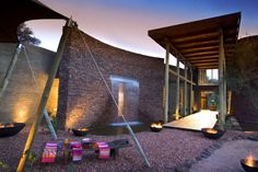 The luxurious Marataba resort is a 85,000 acre game reserve at the foot of the Waterberg Mountains in South Africa. Marataba embraces both the contemporary and the ancient in an exciting union of innovative architecture, design and technology, paying tribute to, and confirming, the concept of the African Renaissance.