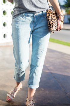 Old Navy cropped denim, paired with our Gladiator sandals are perfectly summer-ready | Source: http://apieceoftoastblog.com/2014/05/14/crop/