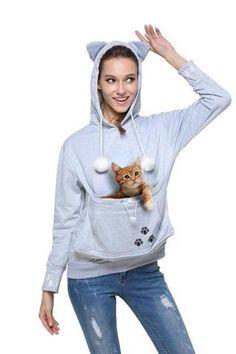 Cat Eared Pouch Sweatshirt