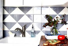 Painting over a dated backsplash