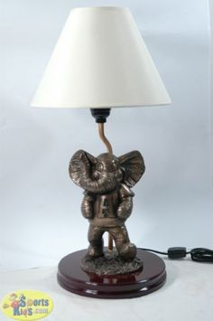 Sportskids Super Alabama Bedding Oxbay Crimson Tide Bronze Mascot Lamp