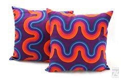 VERNER PANTON Zierkissen 40x40 cm / Einzelanfertigung / Original 1970's Textil | eBay