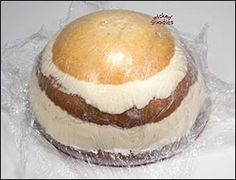 """How to Make a Half Sphere Cake by Wicked Goodies.  Using a round bowl, and wrap.      8"""" hemisphere pan     8"""" round cake pan or ring (for nesting the bowl mold)     cake batter     oil to grease the baking pan     plastic wrap     cake filling     small offset spatula     buttercream (I use American buttercream. The recipe is in my book.)     wood turntable or cake wheel"""